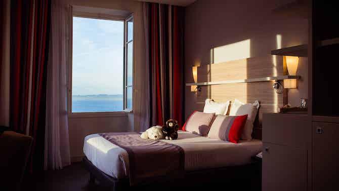 chambre vue mer hotel le saint paul