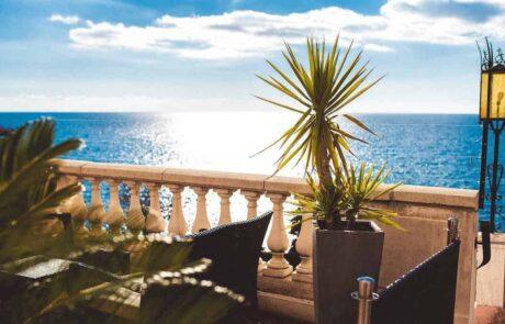 Hotel Le Saint Paul terrasse vue mer