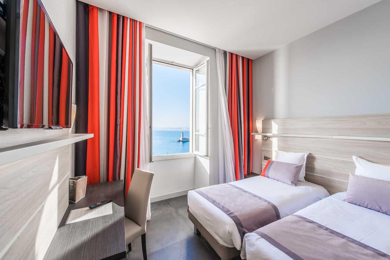 Hotel Le Saint Paul chambre twin vue mer